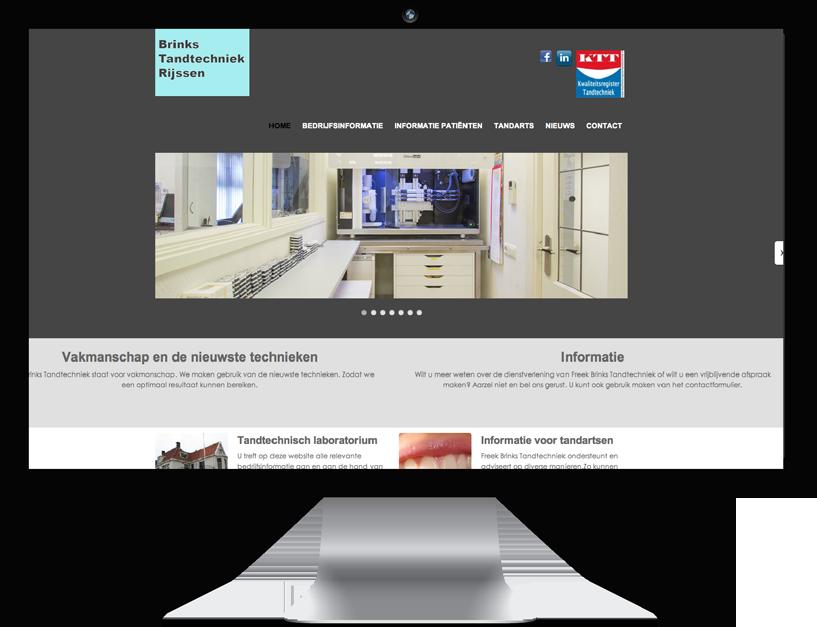 Website  Brinks Tandtechniek Rijssen
