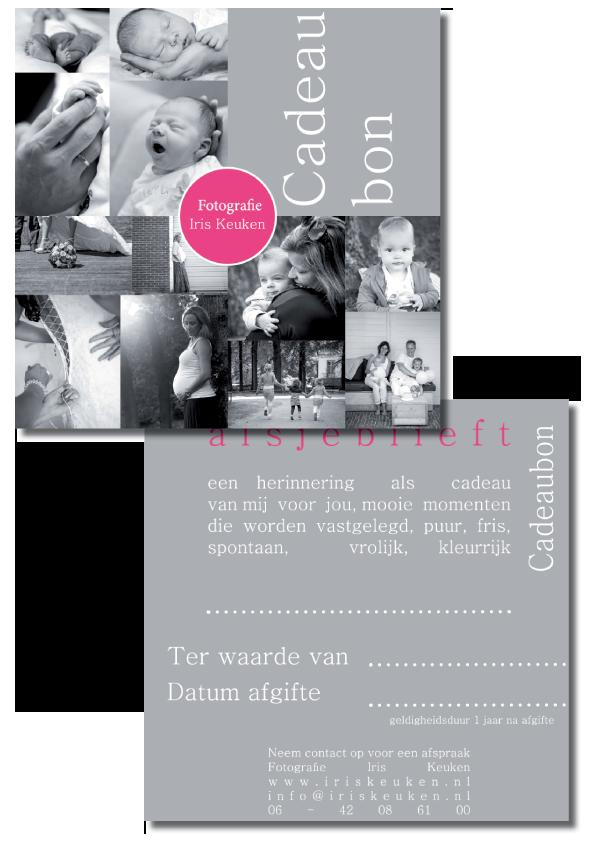 Cadeaubon voor Fotografie Iris Keuken Deventer