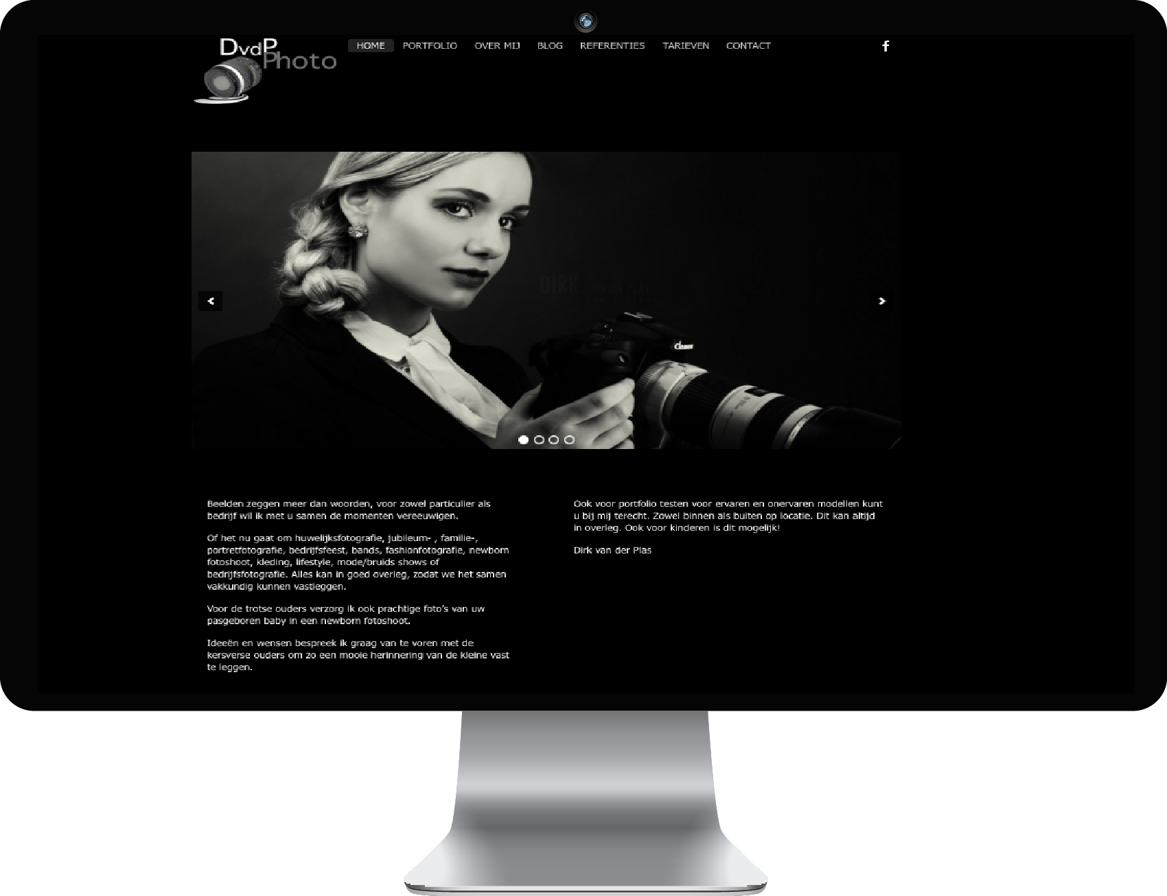 WordPress website Dirk vd Plas fotografie