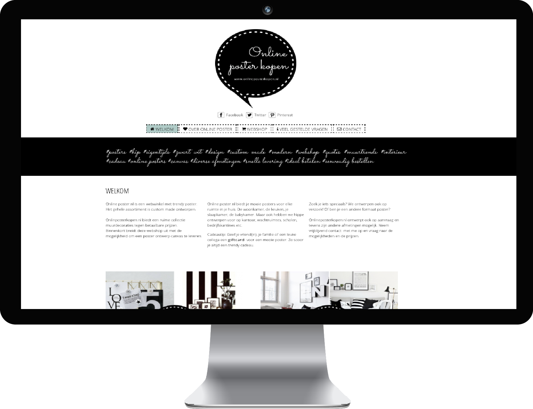 WordPress website en webshop voor Online Poster Kopen.nl