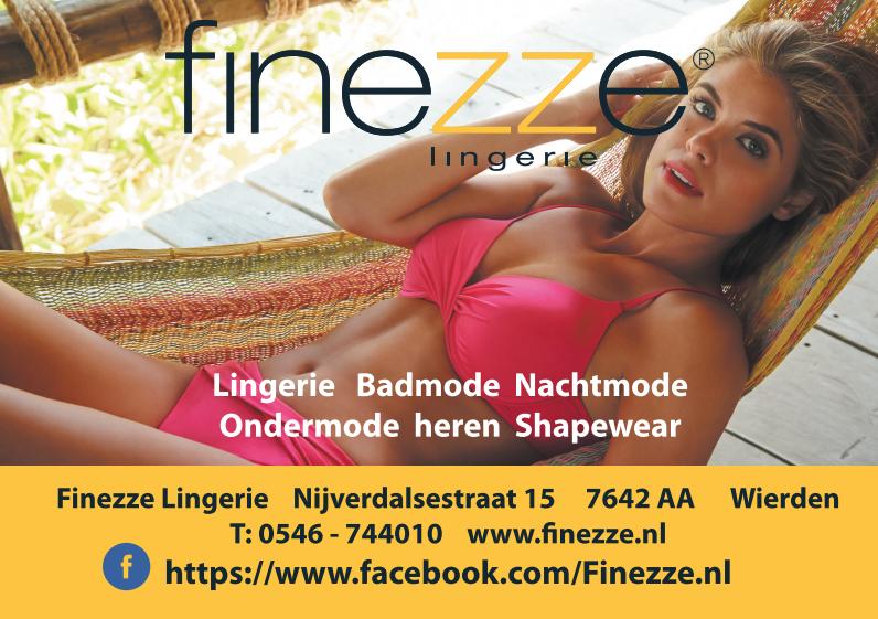 Advertentie ontwerp voor Finezze Lingerie uit Wierden.