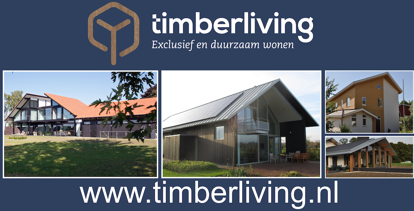 Hekwerkbanner ontwerp voor Timberliving – Rijssen