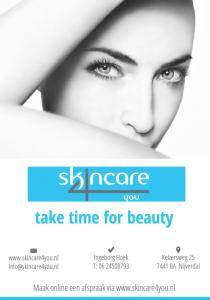 Advertentie ontwerp voor Skincare 4 you Nijverdal
