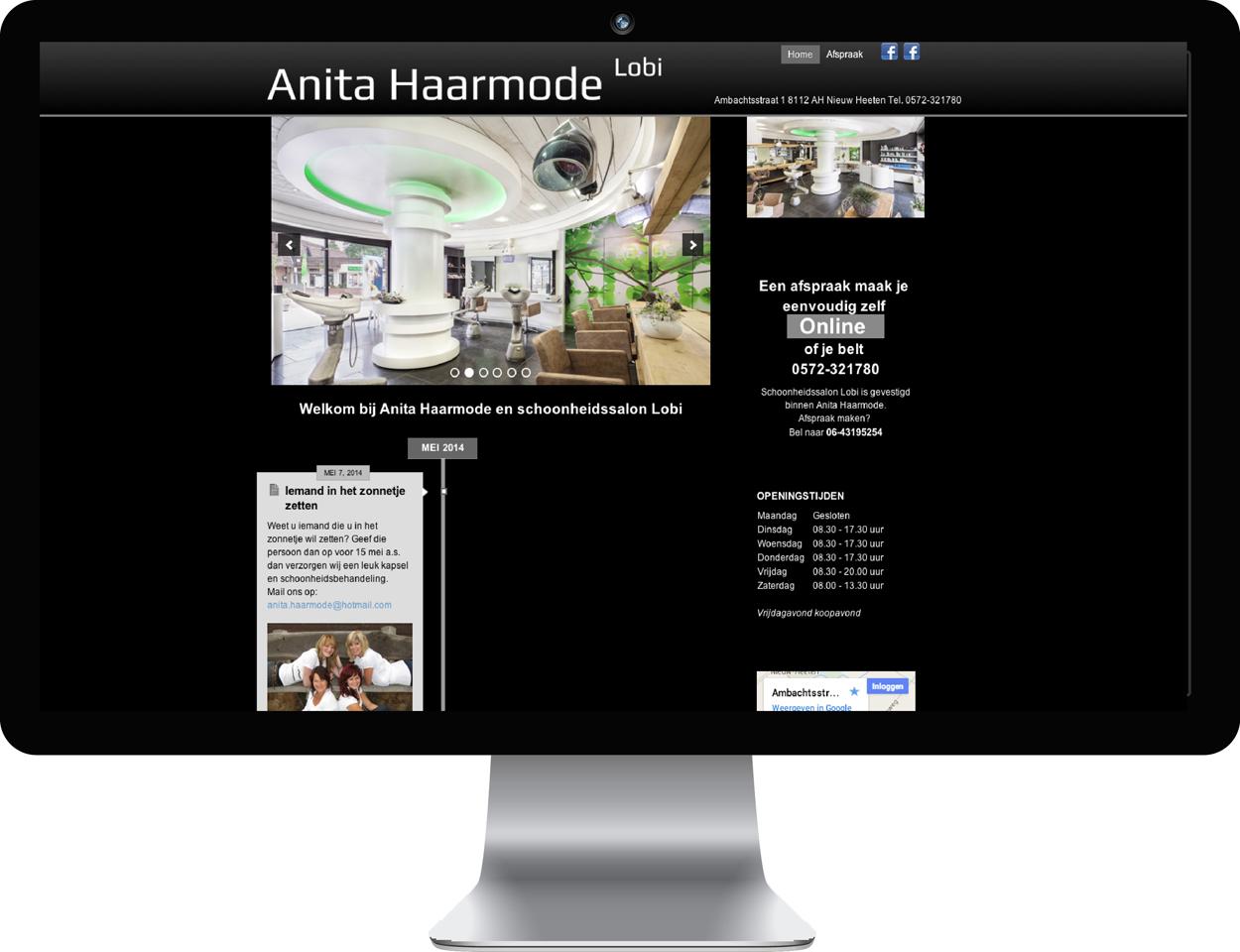 Website Anita Haarmode Nieuw Heeten