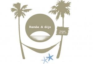 Trouw logo ontwerp voor bruidspaar