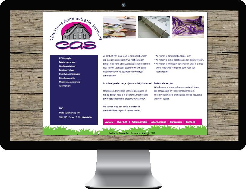 Website Administratie service Cas