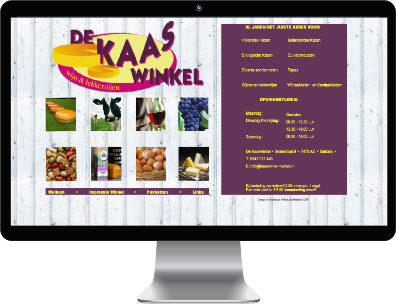 Website De Kaaswinkel
