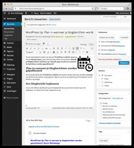 WordPress berichten (blog) kun je inplannen!