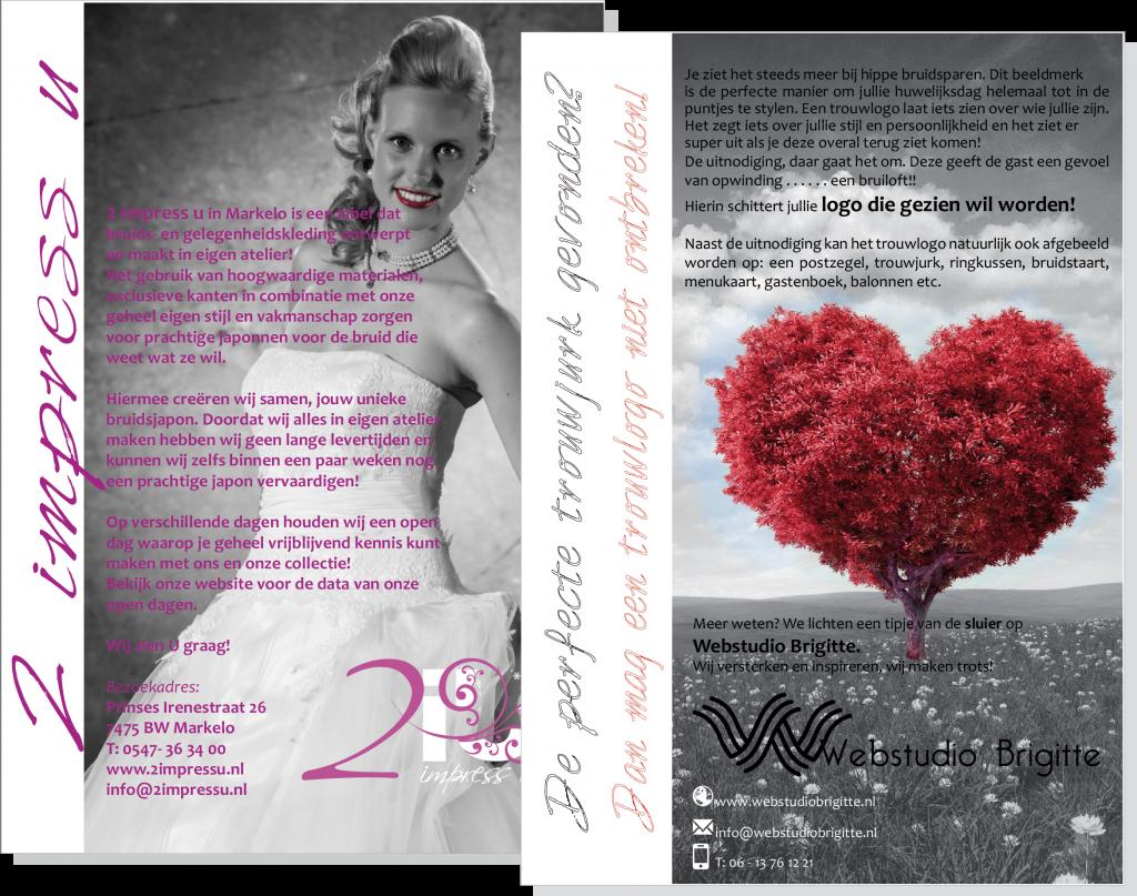 Flyer ontwerp voor Trouwlogo