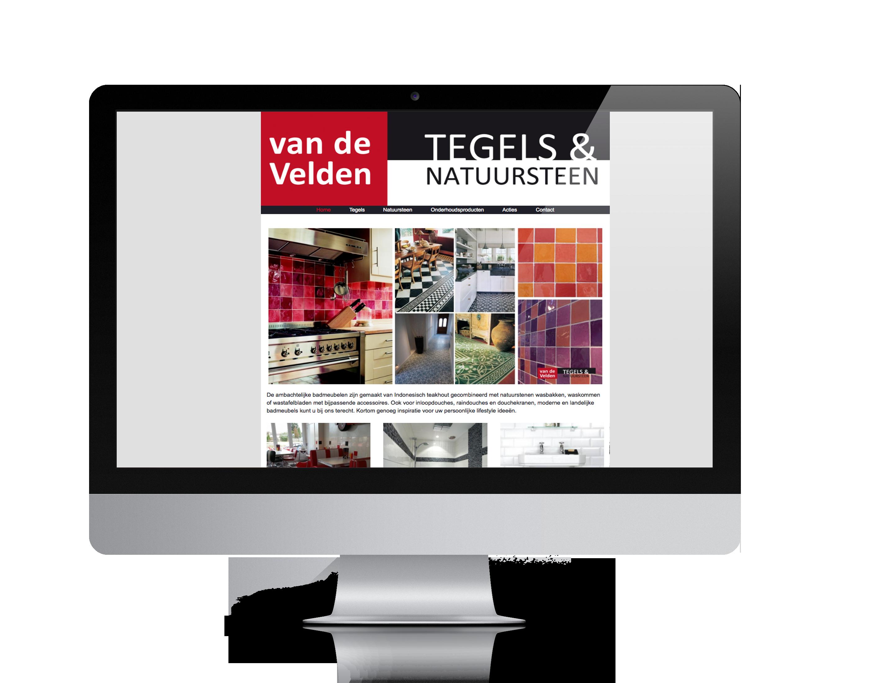 WordPress website Van de Velden tegels en natuursteen- Nijverdal