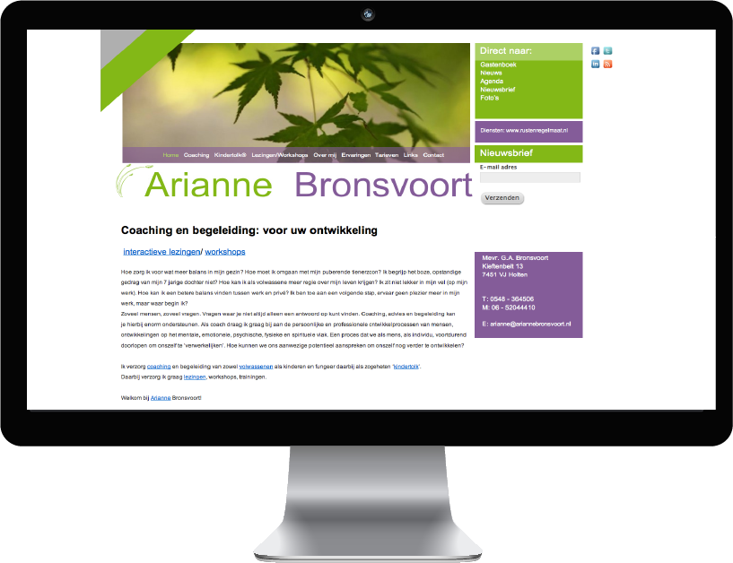 Website  Arianne Bronsvoort