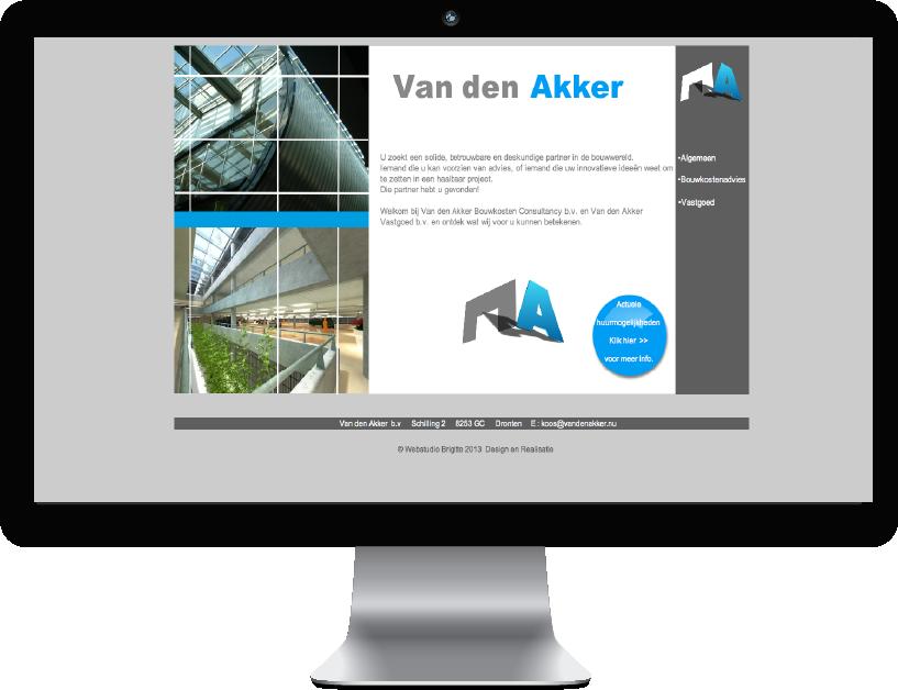 Website  van den Akker Vastgoed