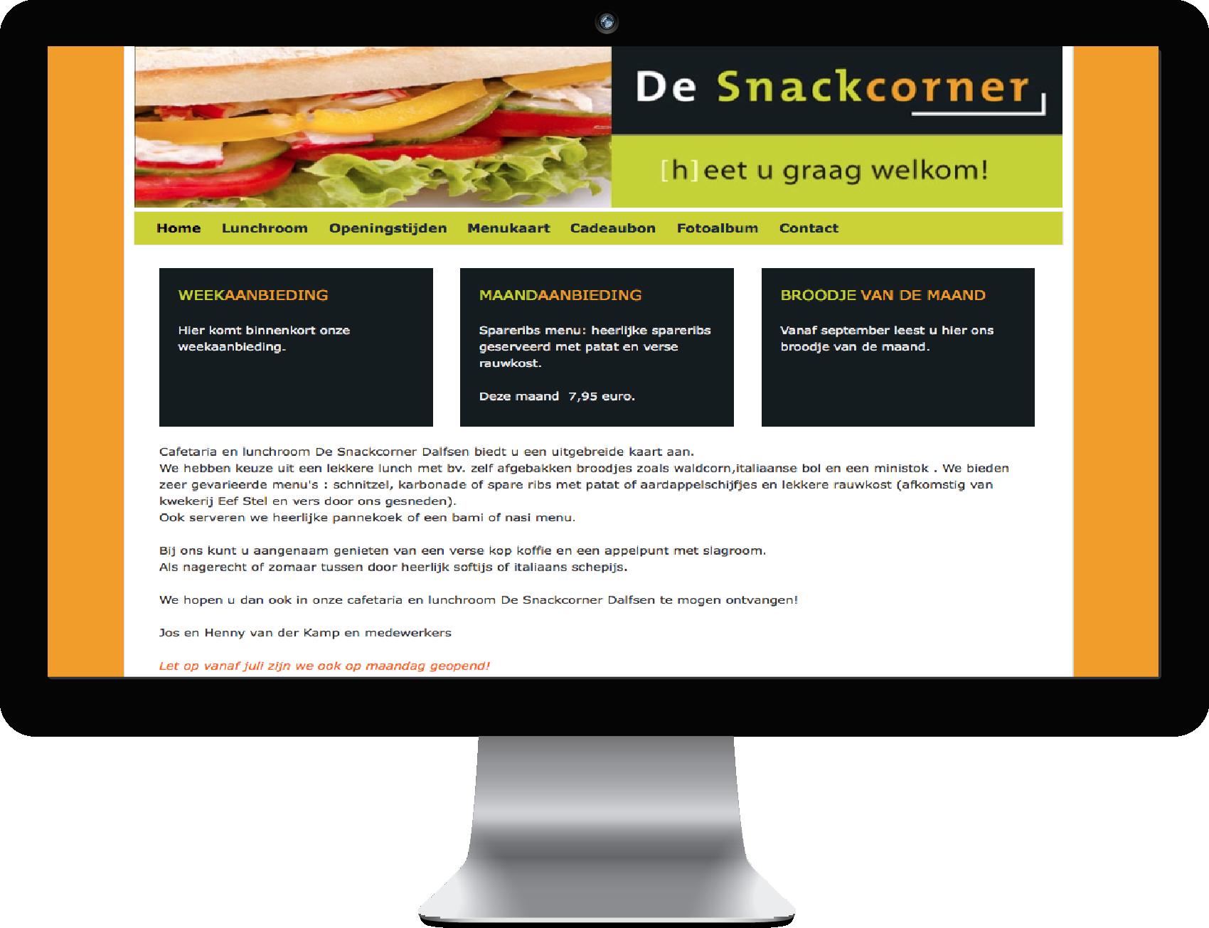 Website de Snackcorner